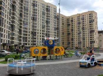 Детская площадка перед корпусами 1 очереди ЖК Новое Медведково